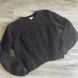 H&M Chenille Balloon Sleeve Sweater
